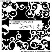 PS CS2 Brushset Deco Swirls 2 by wickedjess