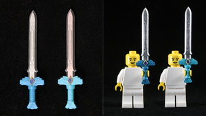LEGO 3D Printed Painted Goddess Long/Whitesword by mingles