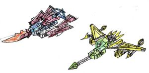 Protojet And Air Lancer by SurgeCraft