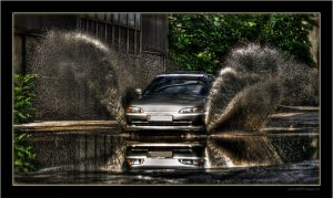 Honda Civic VTi Water Attack04 by miki3d