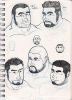 Character sketches 1 by slayerv2