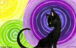 KittyKatBlack And Waves by Willow-Pendragon
