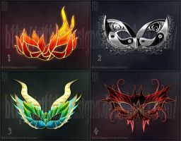 Halloween masks (set 2) - Sale!!! by Rittik-Designs