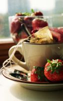 Tea and Strawberries. by Toisho