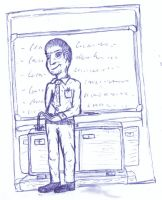 Man at classboard by chickenmobile
