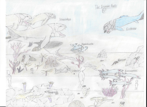 Paleozoic Park: The Devonian Reef by awesomeelephant