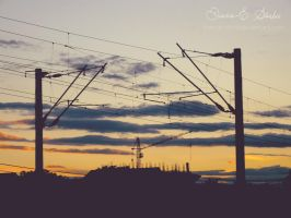 Sunset under construction by DianaES