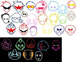 TTGL Face logos by Fuzzypop