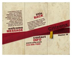 Brochure Side I by CitizenXCreation