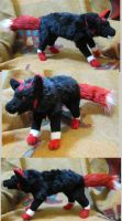 Oki Soft Sculpture Plush Wolf Commission by Jarahamee