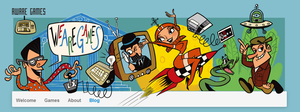 Cartoony Indie Game Studio Website Header by LaserDatsun