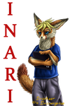Inari the fox badge by Draconigenae666