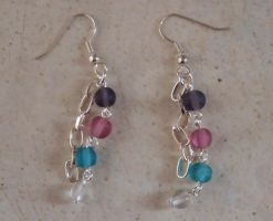 Four beaded earrings by MadDani