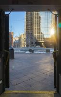 Through the Bus Doors 21 by bowtiephotography