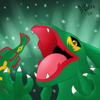 Rayquaza by DaemonBlitzkrieg