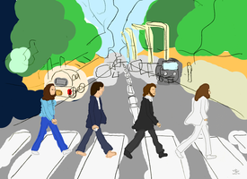 The Beatles Abbey Road by Samurai207