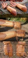 Leather Wambrace, Gauntlets by Carancerth