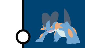Swampert Minimalist Wallpaper by Narflarg