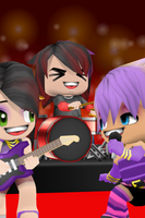 Chibi Rock Band (Buddy Ping) by megatiger42