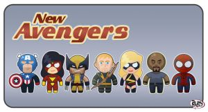 The New Avengers by alexsantalo