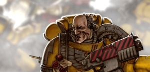Imperial Fist Space Marine by TomasAIRA