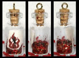 Fire Fairy Dust Bottle by GeneveveX