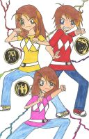 MMPR tees by rumiko18