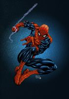 Spiderman Swinging color by alxelder