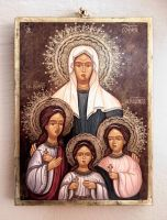 Saint Sophia and daughters: Faith, Hope and Love by GalleryZograf