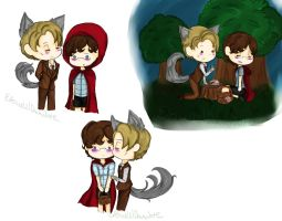 Little Red Riding Will x Wolf!Hannibal by ThePastelHobbit