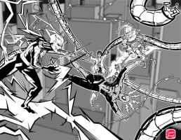 Spider-Man Black and white, grey scale by SeanLenahanSD