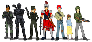 Fallout Equestria: New Roam humanized by glue123