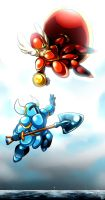 Shovel Knight: Catch Her by Smudgeandfrank