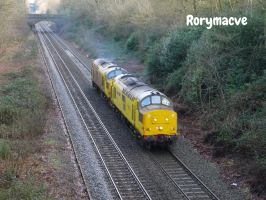 Network Rail 97304 and 97302 at Sutton Park by The-Transport-Guild