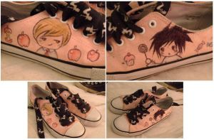 Death Note Shoes by m-a-b-l-e