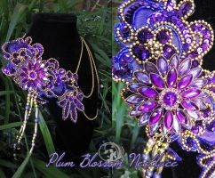 Plum Blossom Necklace by Lillyxandra