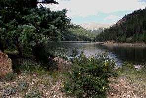 serial-lake in the mountains of Colorado 4 by sonafoitova