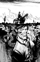 Jonah Hex cover Black n white by Andrew-Robinson