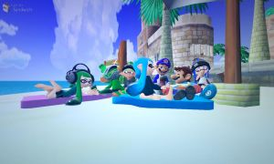 (Splatoon GMOD) Just Having a Beach Party by Geoffman275