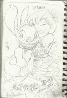 Lilo And Stitch Sketch by mechekin1
