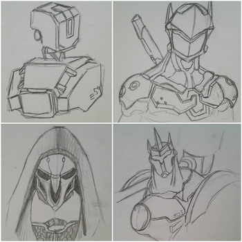 Overwatch Sketches (+Video) by InkyGoat