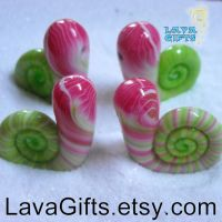 Snail Babies Having Tea Party by CakeToppers