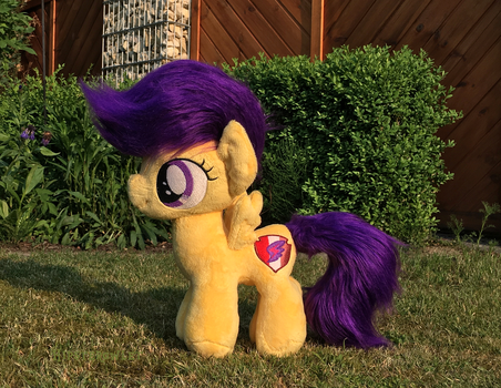 Handmade Voluminous Scootaloo Plushie by HipsterOwlet