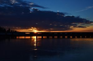 Water Shine Sunset by Marilyn958
