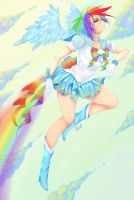 Sailor RainbowDash by ShadedAstral