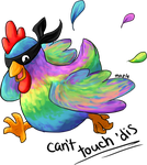 Ninja Rainbow Chicken by MapleDragon