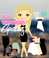 Regalo 100 Watchers(; by iMiVidaApesta