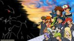 Pokemon meets Kingdom Hearts 2 Wallpaper by Celeste-Lory