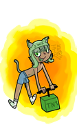 Aiden the fun zombie exploding cat addict by iKnowThatFeelBr0