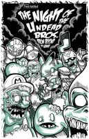 The night of the undead Bros from beyond the grave by Frank-Cadillac